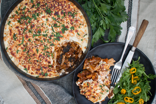 Try Georgia Harding's healthy take on Pastitsio Recipe