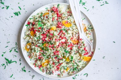 Try Jacqueline Alwill's Cauliflower Pomegranate Pilaf Recipe