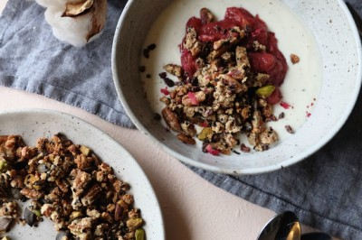 Rhubarb and Apple Deconstructed Crumble Recipe