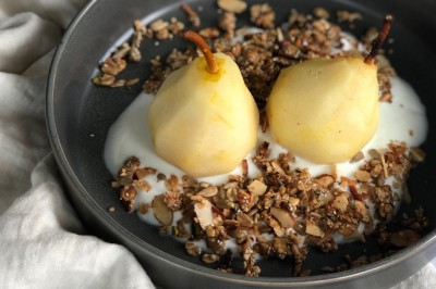 Try Lisa Guy's delicious Hemp Granola with Poached Pear recipe