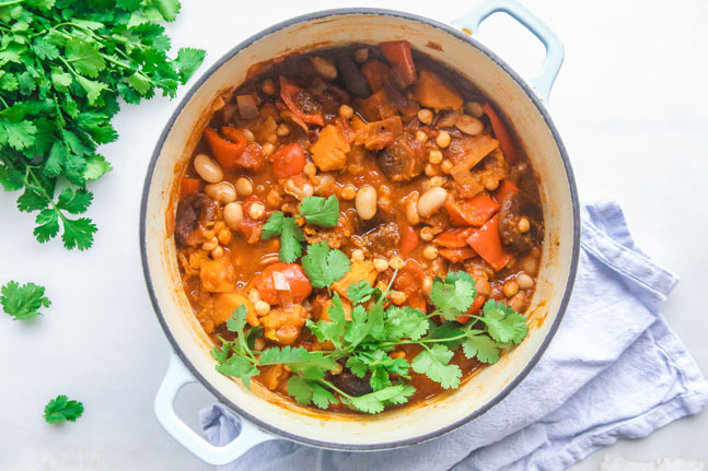 Try our Plant-Based Butterbean Chickpea Tagine Recipe