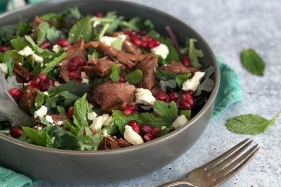 Slow-Cooked Lamb and Pomegranate Salad Recipe