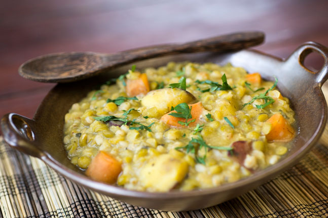 Try our Split Pea, Smoked Tofu and Barley Soup Recipe