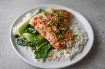 Try our delicious Asian Glazed Salmon with Bok Choy Recipe