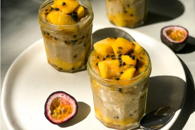 Mango Passionfruit Chia Puddings