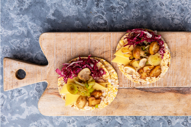Radicchio, Grilled Leek, Grilled Mushroom, Gruyere Cheese