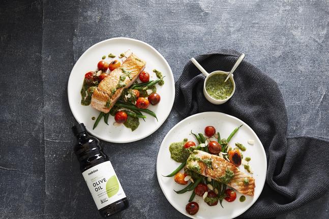 Melrose Salmon Salsa Verde