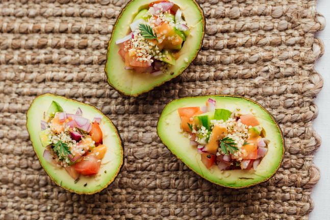 Avocado With Tomato Salsa