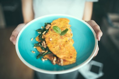 Indonesian-Inspired Banana Omelette for Two