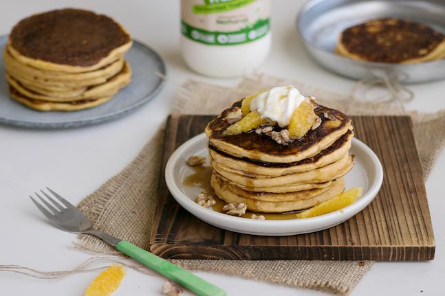 Kefir Sweet Potato Pancakes