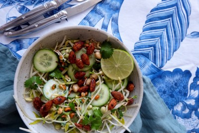 Super Sprout Salad With Chipotle Almonds