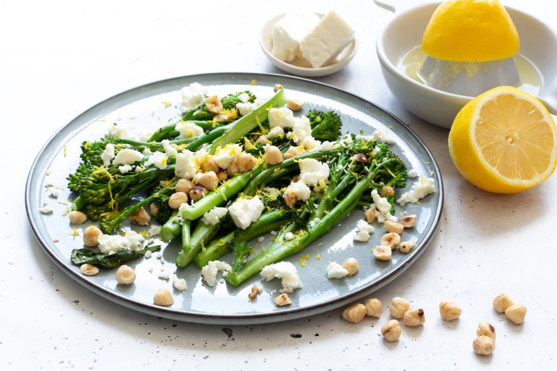 Broccoli Rabe With Lemon, Hazelnut & Goat's Cheese Landscape