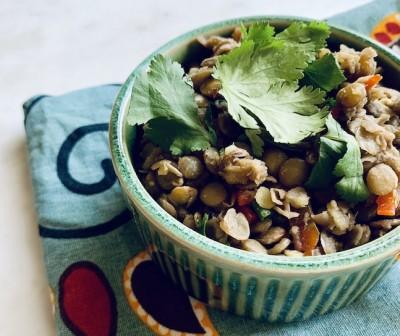 Azifa Green Lentil Salad
