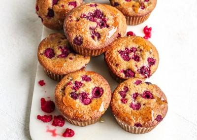 Raspberry Spelt Cupcakes