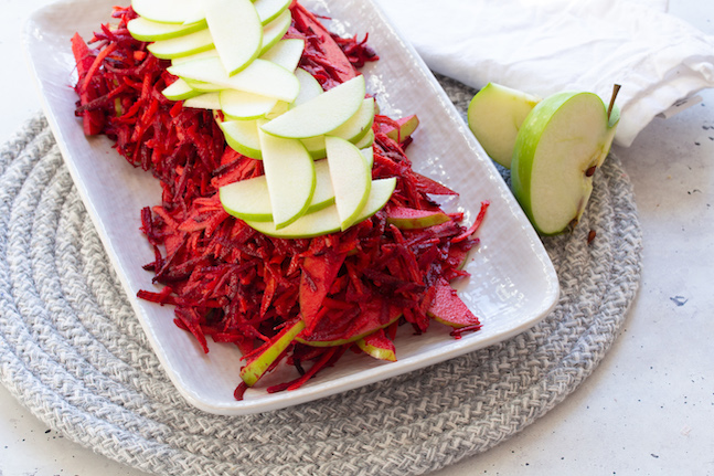 Beetroot, Apple & Carrot Salad