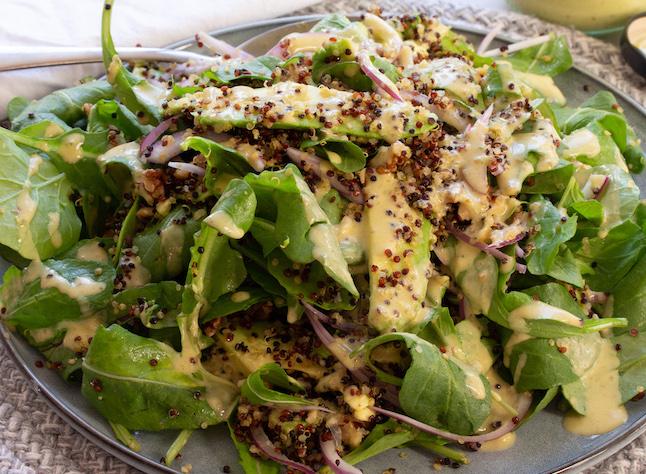 Rocket Toasted Quinoa Walnut Salad
