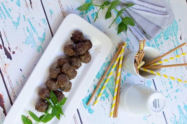 Lamb, Mint & Raisin Meatballs