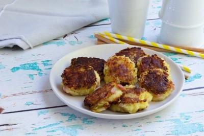 Ham, Cheese And Potato Rostis