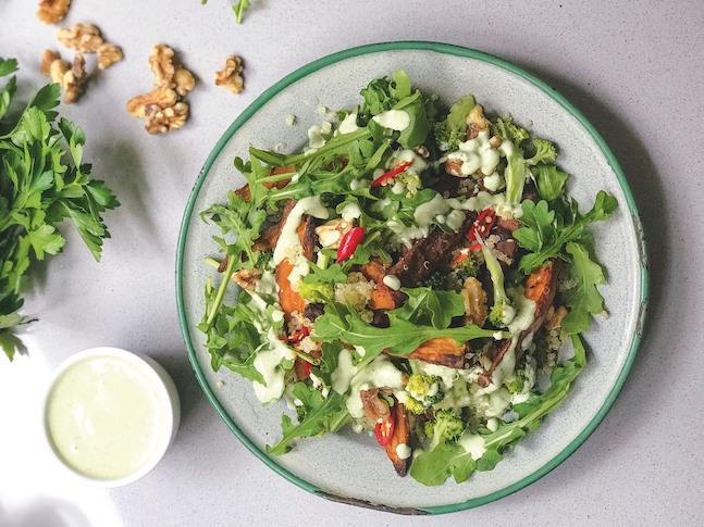 Quinoa Broccoli & Sweet Potato Salad