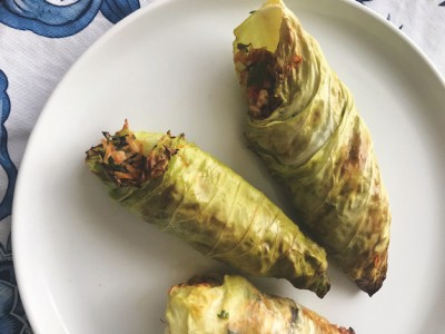 Cabbage Rolls with Zesty Herby Filling