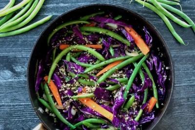 Green Bean & Quinoa Stir-Fry