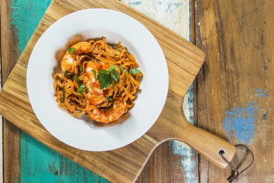 Garlic & Chilli Prawn Pasta