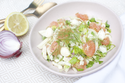 Watercress, Fennel, Red Grapefruit & Labneh Salad