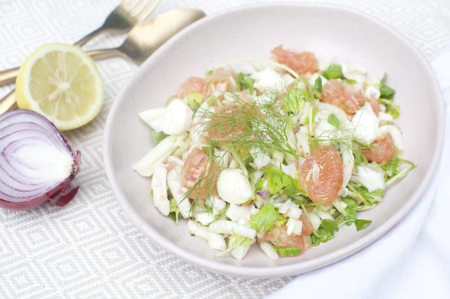 Watercress, Fennel, Red Grapefruit & Labneh Salad