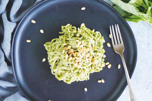 Avocado Pesto Buckwheat Pasta