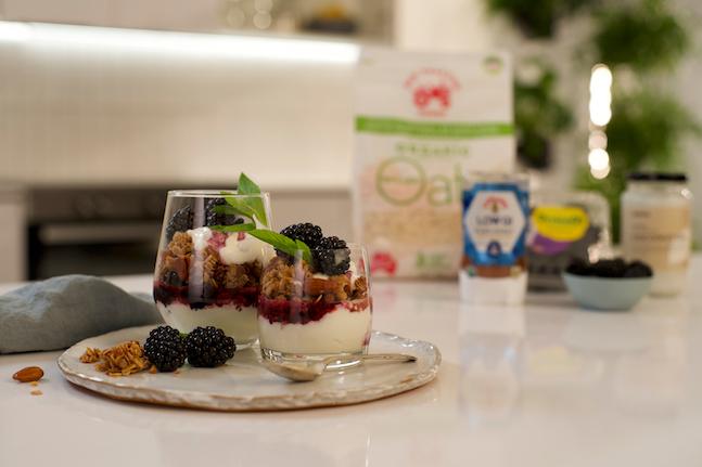 Super Crunchy Granola with Blackberry Swirl