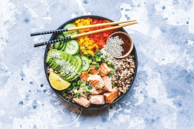 Spicy Salmon Poke Bowl