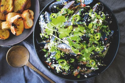 Lime & Coconut Chilli Mussels