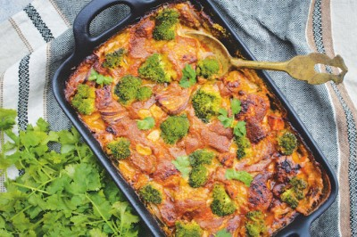 Chicken Satay Tray Bake