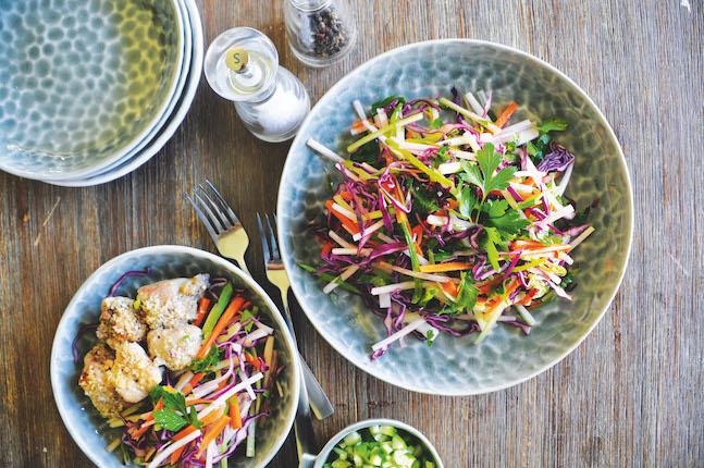 Jicama Rainbow Slaw Salad
