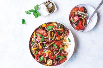 Panzanella Salad with Sardines