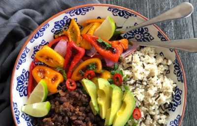 Vegan Cuban Wild Rice & Black Bean Bowl
