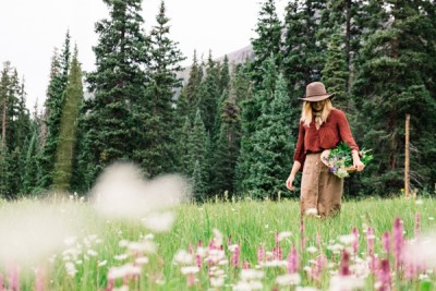 Nature Care College Lady In Field