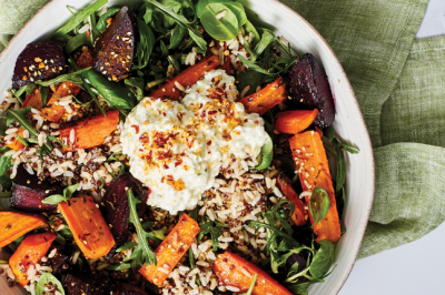 Cottage Cheese, Roast Vegetable, Beetroot & Grain Salad