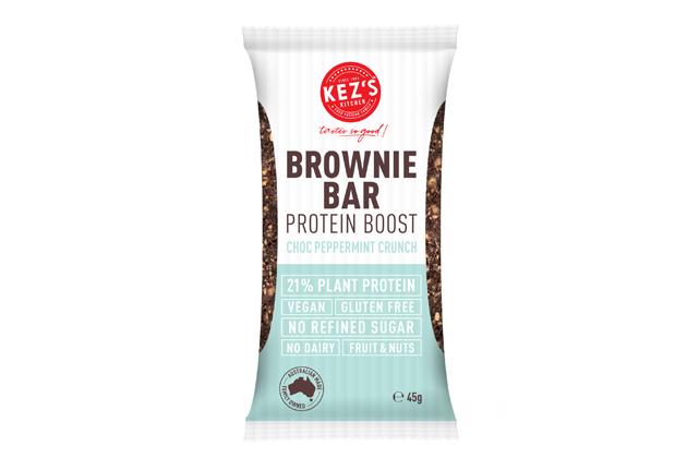 Kez's Brownie Bar Protein Boost Choc Peppermint Crunch Fop Render