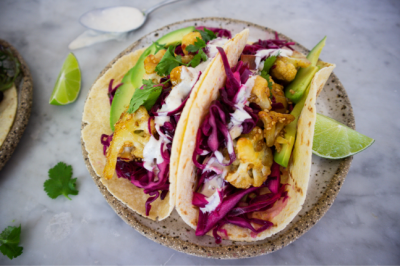 Asian Cauliflower Taco