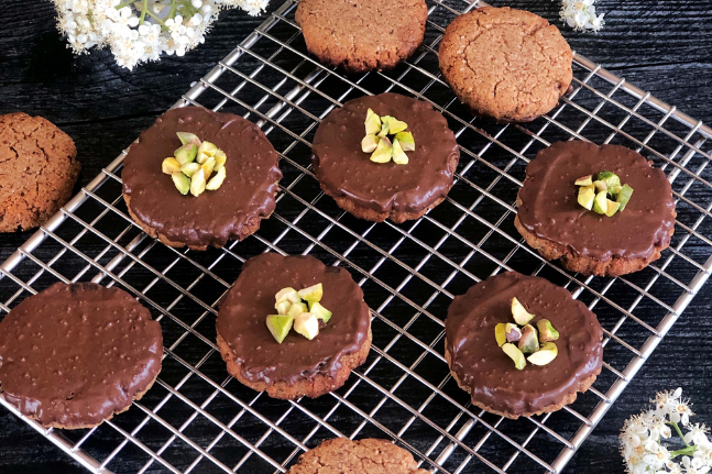 Chocolate Almond Butter Cookies Recipe