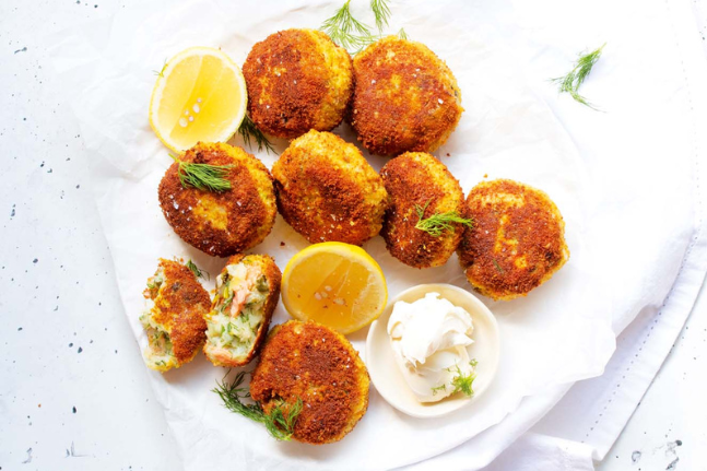 Gluten-Free Appetiser: Leek & Hot Smoked Trout Croquettes Recipe