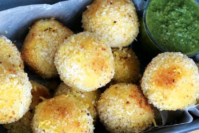 Lemon Risotto Croquettes with Pesto Recipe