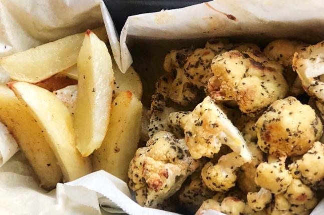 Wakame Cauliflower Fish And Chips Recipe