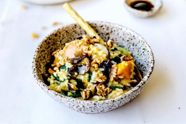 Asian Inspired Mushroom Risotto Recipe