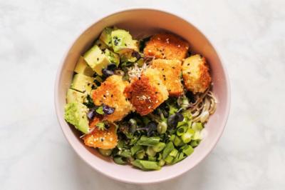 Crunchy Teriyaki Tofu Nourish Bowl Recipe