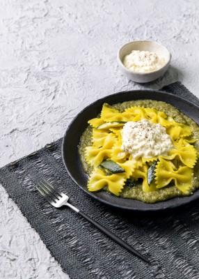Farfalle with Zucchini & Stracciatella