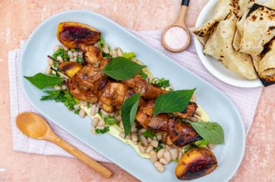 Chicken Breast, Roast Peach & Cannellini Bean Chicken Salad Salad