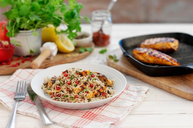 Mid-week dinner: Zesty Lemon Chicken With Pomegranate & Coriander