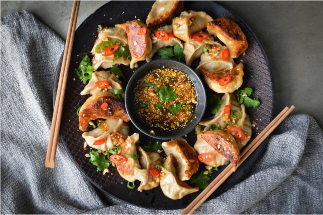 Pork & Shiitake Gyozas Recipe
